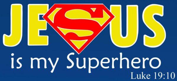 Jesus is my superhero bilde