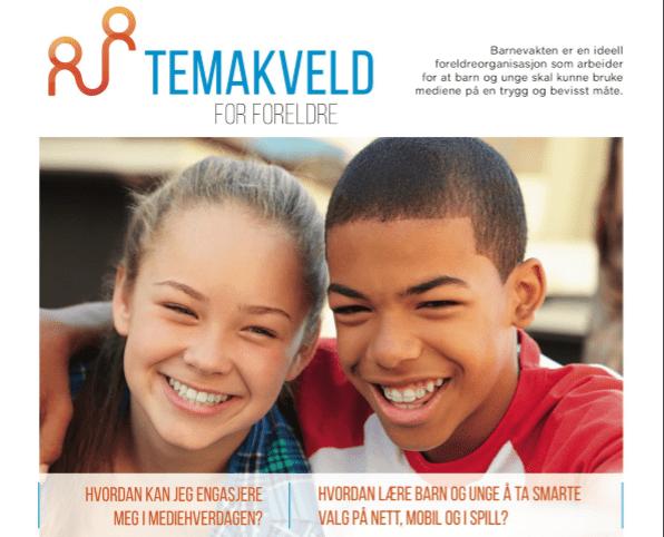 Velkommen til viktig temakveld om barnas nettbruk 1. november kl. 19.30