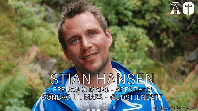 Stian Hansen taler på Åpent Hus og Gudstjeneste.