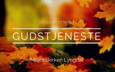 Velkommen til Gudstjeneste søndag 4. november